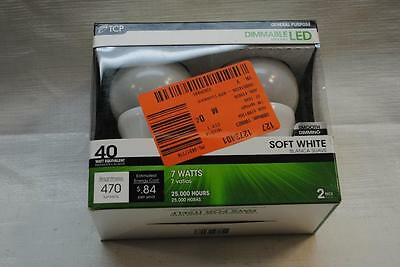 TCP 40W Equivalent Soft White (2700K) A19 Dimmable LED Light Bulb (2-Pack)