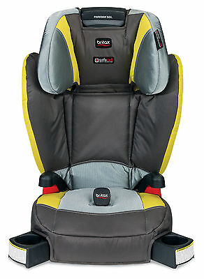 Britax Parkway SGL (G1.1) Belt Positioning Booster Seat in Scout Limeade - New!!