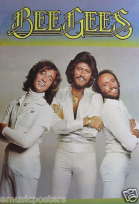 "BEE GEES ""CLASSIC SHOT OF BROTHERS DRESSED IN WHITE"" ASIAN POSTER - Disco Music"