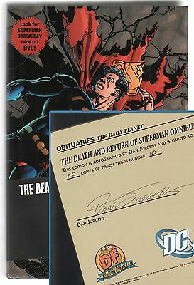 The Death and Return of Superman Omnibus DF Signed by Jurgens Numbered #10/20