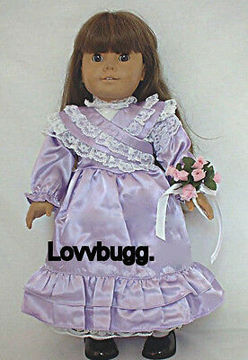 "Lavender Bridesmaid Dress for 18"" American Girl Doll Samantha Clothes SELECTION"