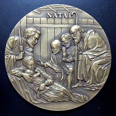 RELIGOUS / NATIVITY / POOR / BRONZE MEDAL BY BALTAZAR / BRONZE MEDAL 90 mm / M98