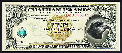 Chatham Islands New Zealand Polymer Note Series 1999 A Limited Commemorative