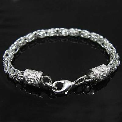 New!! 925 Sterling silver Dragon Cubic T/O Link Chain Bracelet 7.5""