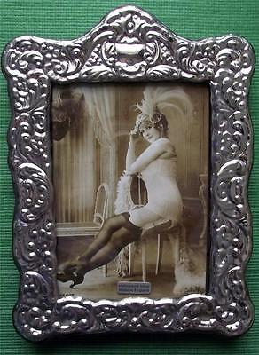 LARGE Roccoco Art Nouveau  Hallmarked Silver Photo Frame : Xmas Valentines