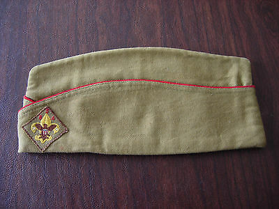 Vintage 1940's Official BSA Boy Scouts of America Garrison Cap Hat Size Medium