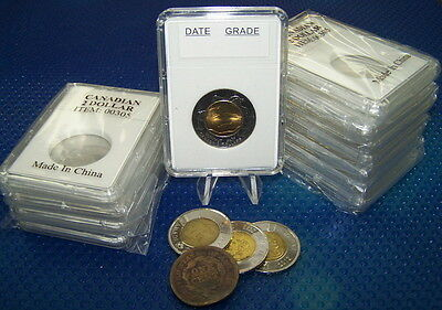 100 coin holders Slab Style for Can 2 Dollars and US Large Cent ** 28.0 mm**