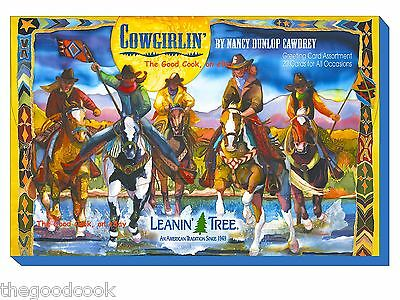 Leanin Tree Cowgirlin' Horses Cowgirl 20 Greeting Cards Asst Pack 20 Designs New