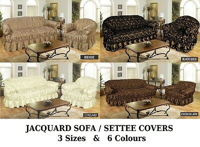JACQUARD SOFA COVER SETTEE COVER Available in 1 , 2 , 3 Seater Sofa Covers