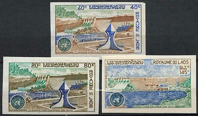 Laos 1972 SG#346-8 ECAFE MNH Imperf Set #A82686