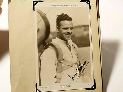 A4 - Antique Album 1930,s AVIATION Real Photographs & Autographs