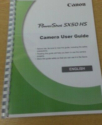 Canon Powershot Sx50 Hs Full User Manual Guide Instructions Printed 283 Pages