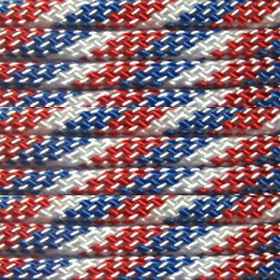 Red White Blue 100 ft 550 Paracord 7 Strand Parachute Barber Shop Pole Pattern