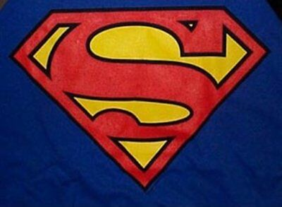 DC Comics Superman Large Chest S Logo on a Blue T-Shirt Size XXL (2X) NEW UNWORN