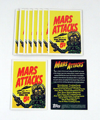 Lot of (10) 1994 Topps Archives Mars Attacks Archives Promo Card (Philly) Nm/Mt