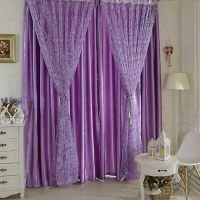 New Circle Pattern Room Voile Window Curtains Sheer Panel Drapes Scarfs Curtains