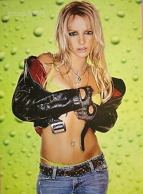"""Britney Spears """"lime Lingerie & Black Leather"""" Poster From Asia"""