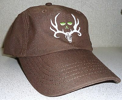 BONE COLLECTOR Logo Brown Cap Velcro Adjustable One Size Fits ALL