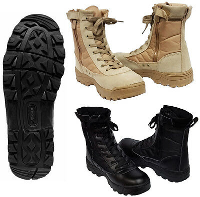 Mens Army Combat Patrol Tactical Boots Cadet Military Security Work Police Shoes