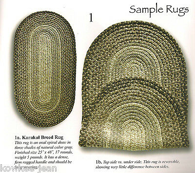 The Shepherd's braided Rug book: BRAIDING WOOL RUGS FROM ROVING weaving spinning