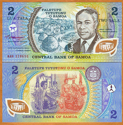 Samoa, 2 Tala, ND (1990),  Pick 31 (31f), POLYMER, UNC > Obsolete