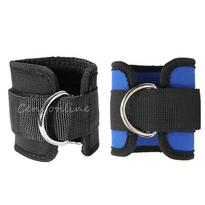 2Pcs Ankle D-Ring Strap Multi Gym Cable Attachment Leg Thigh Pulley Lifting Part