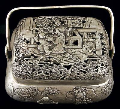 CHINA Qing Dynasty 19th century  Finely Decorated & Ornamental Hand Warmer RARE