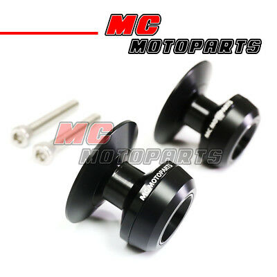 Black Twall Racing M6 Swingarm Spools Sliders For Yamaha YZF R1 99-15 16 17 18