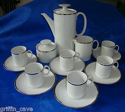 THOMAS Rosenthal MEDALLION Coffee Set Thick Silver Line