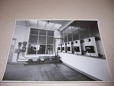 1940s PHILIPS TELEVISION BELGIUM STUDIO POWER ROOM? ORIGINAL 7X9 PHOTO