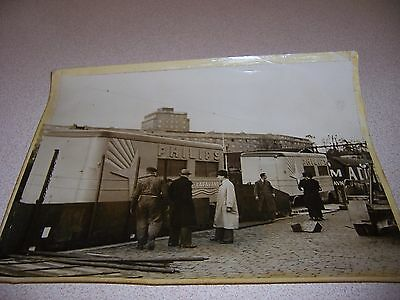 1930s PHILIPS TELEVISION CARAVAN STOCKHOLM SWEDEN ORIGINAL 7X9 PHOTO