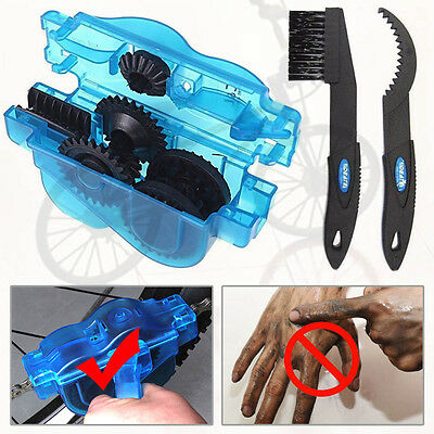 Cycling Bike Bicycle MTB 3D Chain Cleaner Quick Clean Tool Brushes Scrubber New