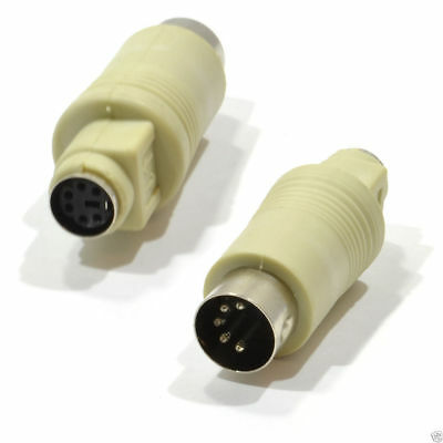 5 Pin Din Male Plug to PS2 6 Pin female Socket Gender Changer [007751]