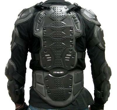 Motorcycle Full Body Armor Spine Back Chest Shoulder Protector MX Shirt ~L/Large