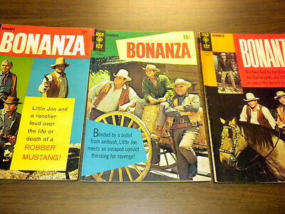 BONANZA #26,30,33 Gold Key TV western 1969 LOT