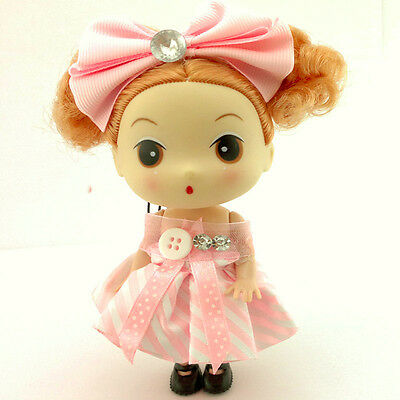 New Korean Ddung Doll Pink Butterfly With Short Hair Keychain Cell Phone Strap