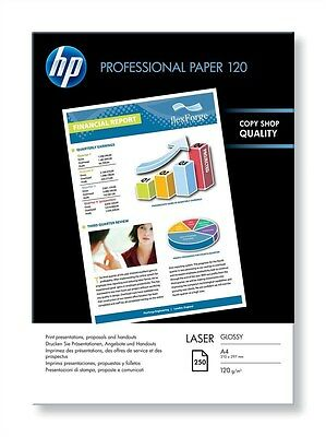 HP Professional (A4) Glossy Laser Paper (250 Sheets) 120gsm (White)