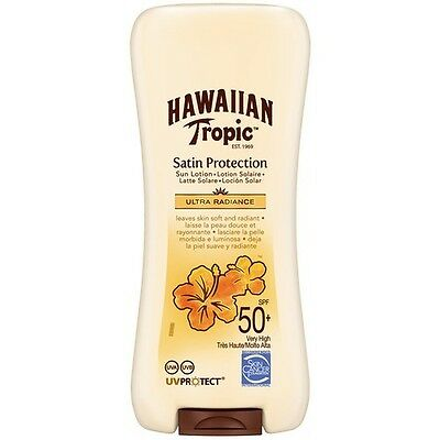 Hawaiian Tropic Sun Tan Lotion Cream SPF 50+ Protective Sunscreen Tanning 180ml