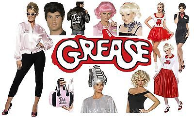 Official Licenced Grease Pink Lady/T-Bird Jacket/Costumes/Wigs/Glasses,All Sizes