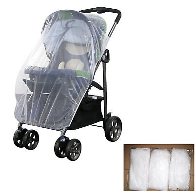 Universal Pram Mosquito Net Buggy Stroller Pushchair Bug Insect Car Seat White