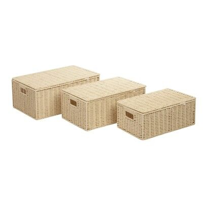 Honey Can Do Set Of 3 Paper Rope Baskets - STO-03556