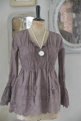 Jeanne d`arc living Bluse pretty heart mocca 900175