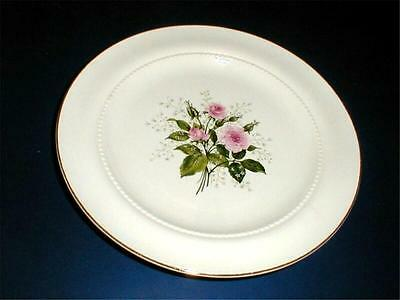 Hall China HEATHER ROSE Beaded Ring Dinner Plate