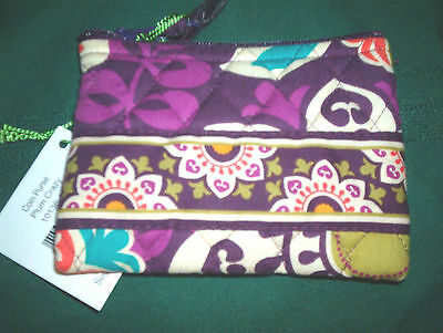 Vera Bradley Zip Coin Purse, Plum Crazy, Nwt