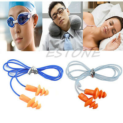 New Soft Silicone Ear Plug Hearing Protector Hearing For Swimming Sleeping 24dB
