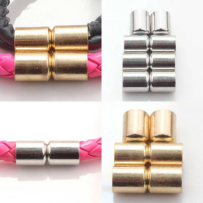 New 5/10 Sets Silver/Gold Plated Column Magnet Clasps Connectors Jewelry Making