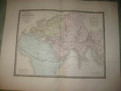Huge Monumental Antique 1862 Ancient World Map Africa Asia Europe Arabia China N