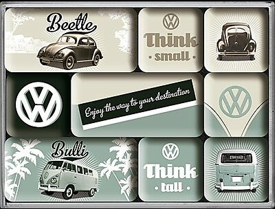 Volkswagen VW Tall & Small set of 9 mini fridge magnets    (na)