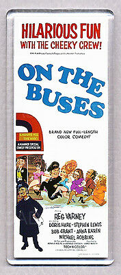 ON THE BUSES LARGE movie poster 'wide' FRIDGE MAGNET - UK TV RETRO CLASSIC !