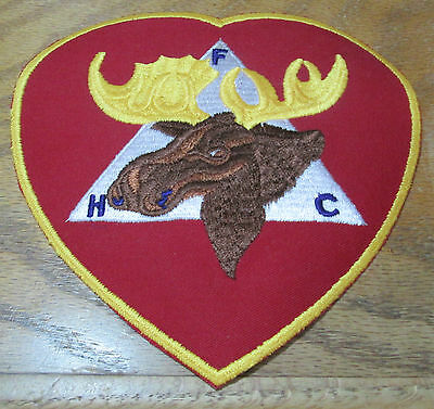 Loyal Order of The Moose Large Embroidered Heart Patch Applique Unused 6""